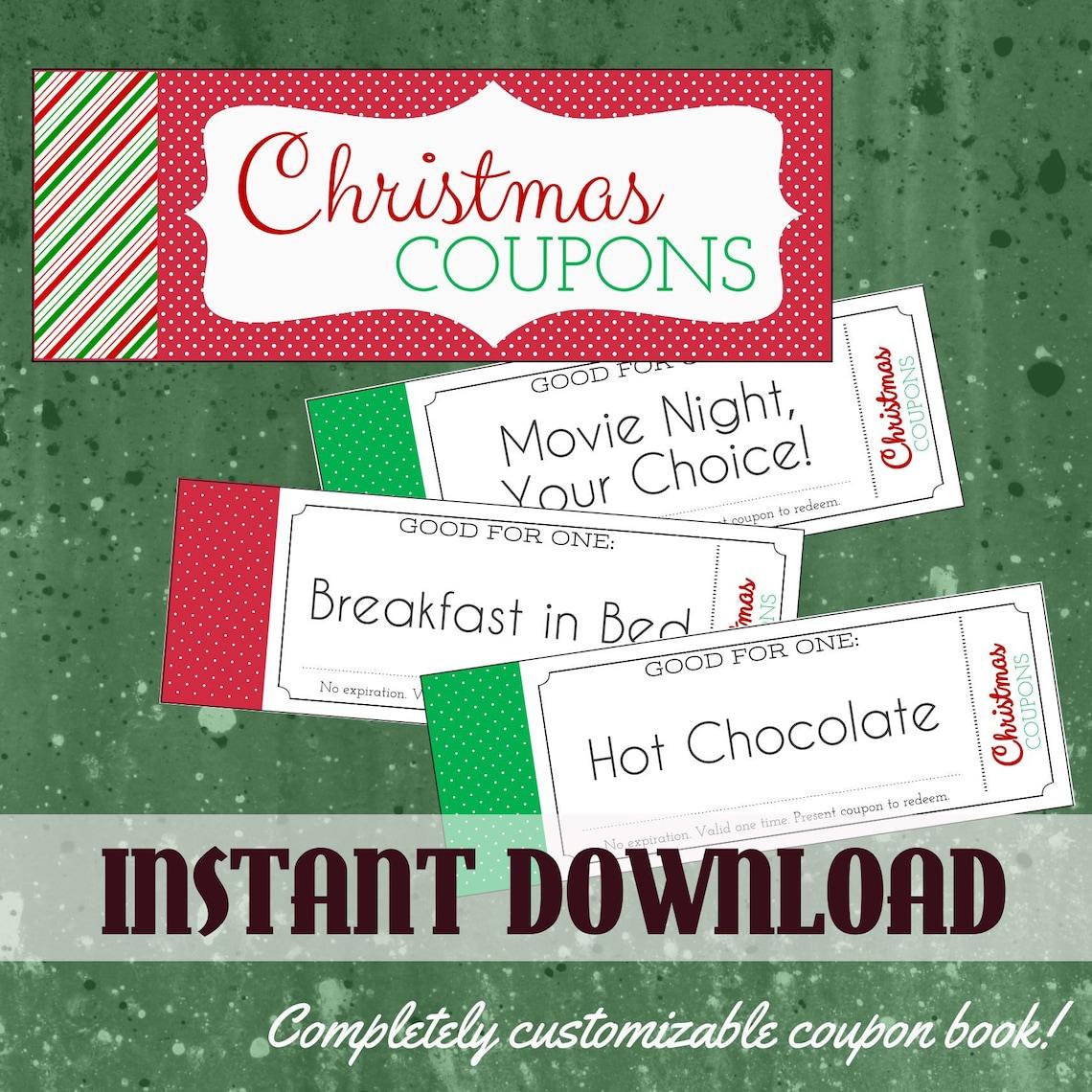 Printable Christmas Coupon Book | Beanstalk Mums