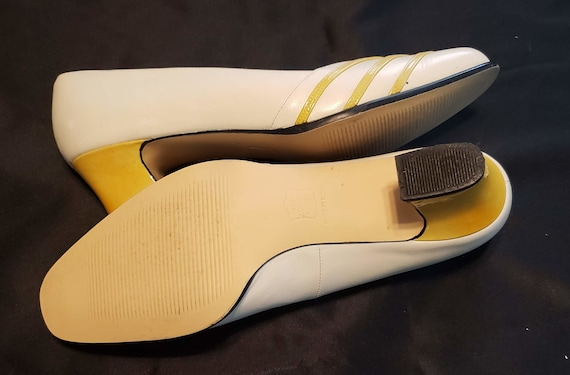 Retro Ros Hommerson Shoes 90's Gone 40's Yellow &… - image 6