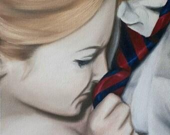 "Original Oil Painting by J. Ensley ""Based On..."""