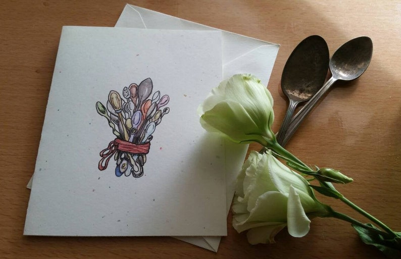 Greeting Card  Bouquet for Spoonies Blank image 0