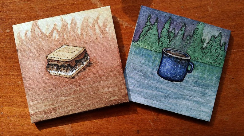 Tiny Paintings of Various Endearing Subjects image 0