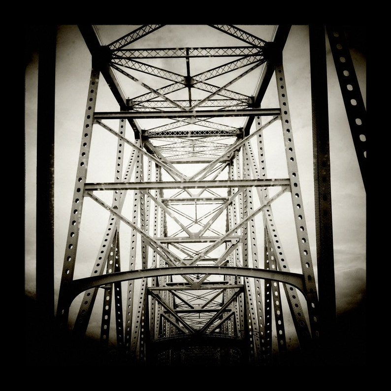 Crescent City Connection In Black and White by J. Ensley image 0