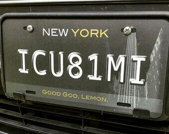 30 Rock Tracy Jordan's ICU81MI Vanity License Plate [DISCOUNT: SLIGHT DAMAGE]