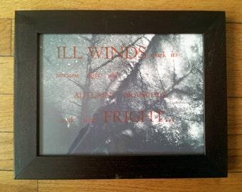 """Autumn Letterpress """"Ill Winds..."""" by J. Ensley"""