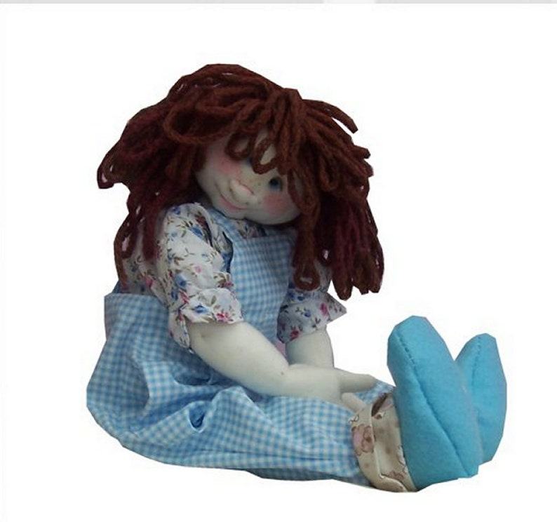 Lottie cute cloth doll sewing pattern  14 inches (35cm) tall