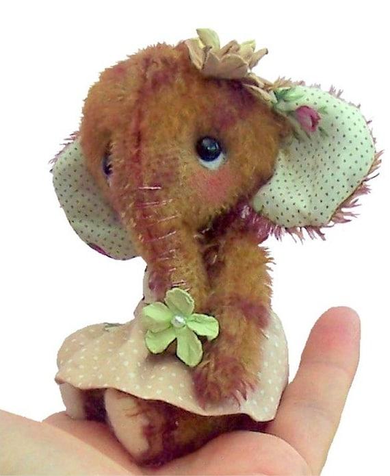 Magnolie Stofftier Elefant Schnittmuster. Mini Elefant | Etsy