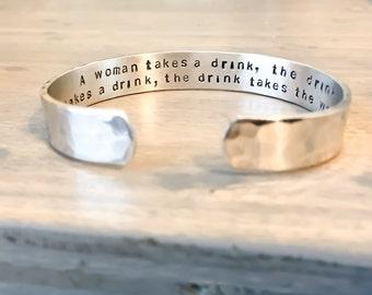 Personalized Bracelet - Custom Hand Stamped Bracelet - Personalized Bracelet Cuff - Your Name, Quote - Personalized Stamped Bracelet