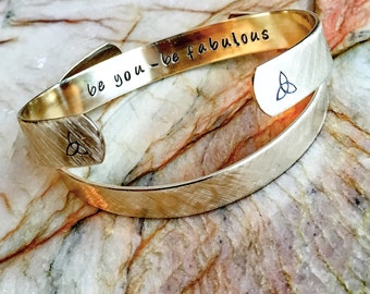 Message Bracelet - Custom Bracelet - Personalized Bracelet Cuff - Custom Stamped Bracelet - Your Name, Quote - Personalized Stamped Bracelet