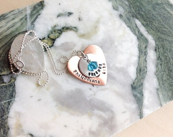 Personalized Necklace - Hand Stamped Mommy Necklace - Personalized Stamped Necklace, Couple, sister, best friend, Hand Stamped Necklace