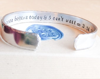 Hand Stamped Bracelet - Custom Hand Stamped Bracelet - Personalized Bracelet Cuff - Your Name, Quote - Personalized Stamped Bracelet