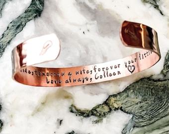 Stamped Metal Bracelet - Custom Hand Stamped Bracelet - Personalized Bracelet Cuff - Personalized Stamped Bracelet
