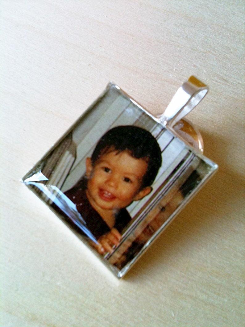Personalize Photo Pendant Picture Pendant Personalize Picture Necklace Solid Sterling Photo Necklace WATERPROOF