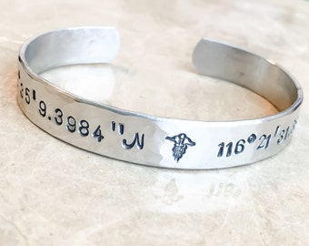 Quote Bracelet - Custom Stamped Bracelet - Personalized Bracelet Cuff -  Message Bracelet - Your Name, Quote - Personalized Stamped Bracelet