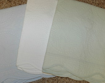 Monogrammed Baby Quilt NEW COLORS now available