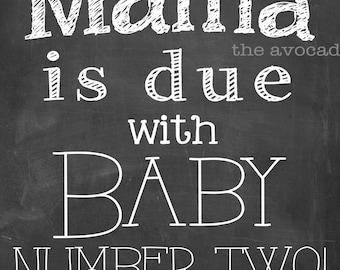 Chalkboard Pregnancy Art Printable