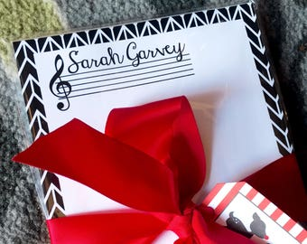 Personalized Notepad- Music Design