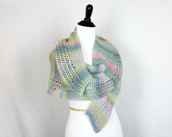 Hand Knitting Pattern Lacy Crescent Shawl Knitting Pattern Etsy