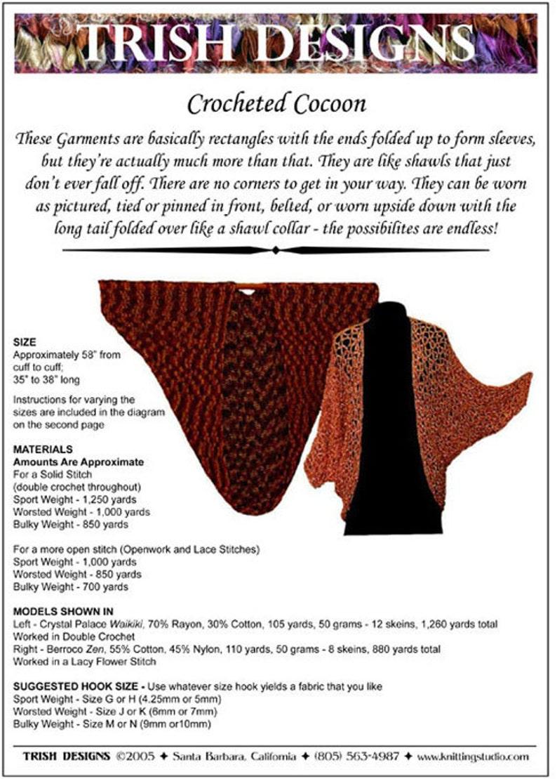 99f4e26bffe8 Hand Crochet Pattern Cocoon Jacket Crochet Pattern PDF