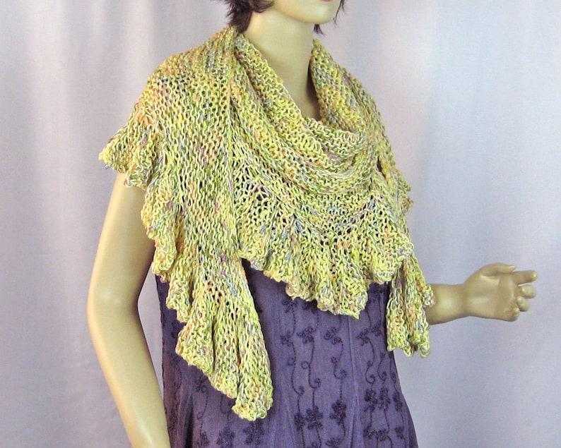 Knitting Pattern Ruffled Edge Shawl Knitting Pattern Pdf Etsy