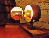 Gas Gauge Light Vintage Industrial Steampunk Accent Lighting, Re purposed Upcycle Recycled