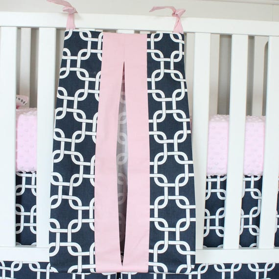 Diaper Stacker Navy Pink Gotcha Nursery Accessory