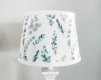 Lamp shade Eucalyptus Fern Foilage Nursery Room decor lighting