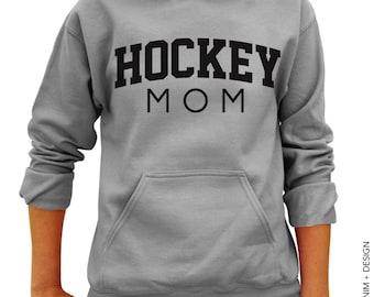 Hockey Mom Hoodie - Gray Hoodie - Mother's Day Gift Idea