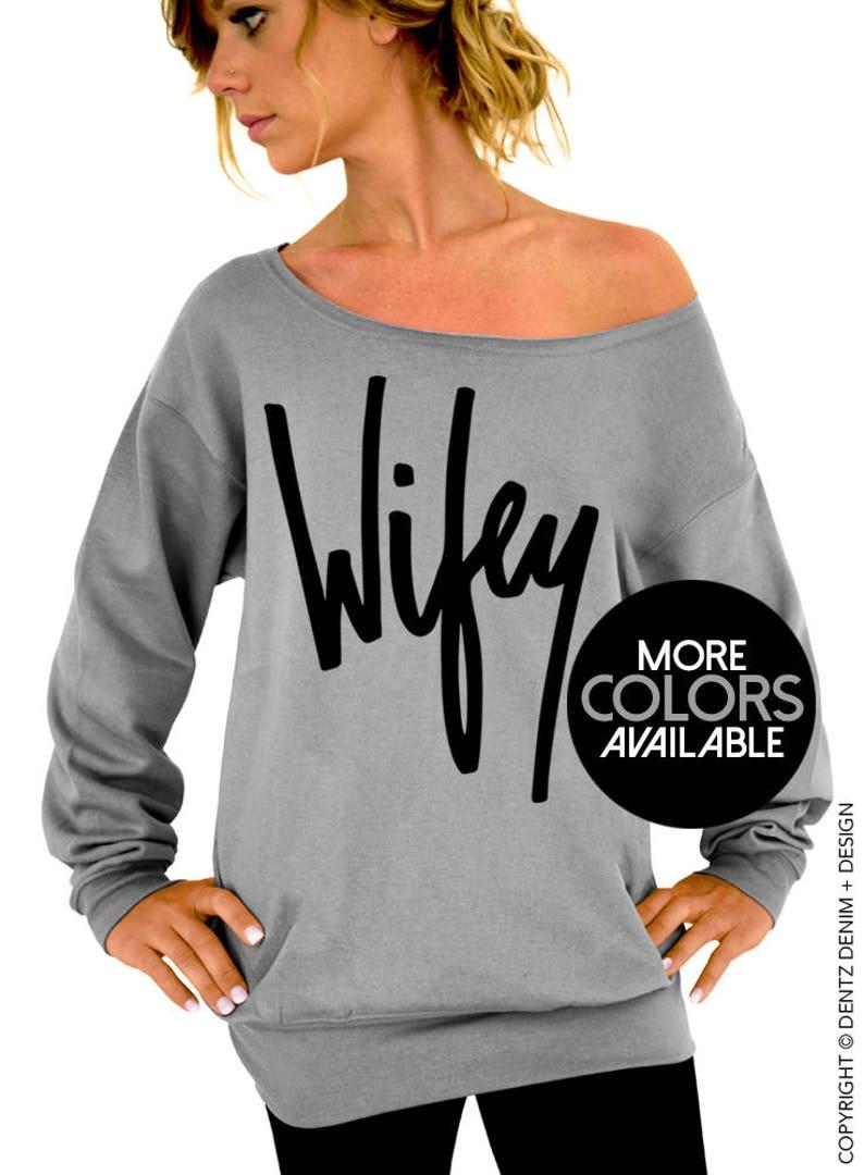 b07fa6a92f1 Wifey Sweatshirt Graffiti Wifey Wifegift for bridejust   Etsy