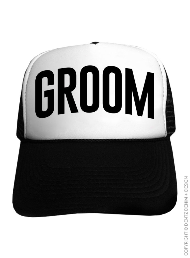 Groom Trucker Hat bachelor party hats Basic Style Black  87abcea9b698