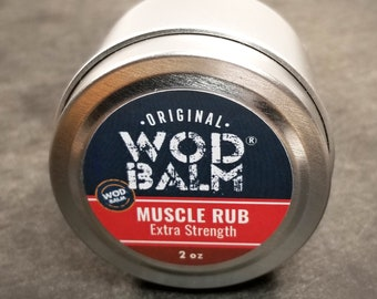"""Extra Strength 2 oz WOD Balm Muscle Rub 