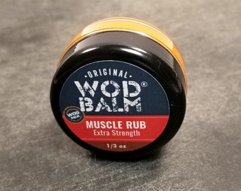 Extra Strength 1/3 oz WOD Balm Muscle Rub | Gym Bag Size | 100% All Natural Relief for Your Sore Muscles |