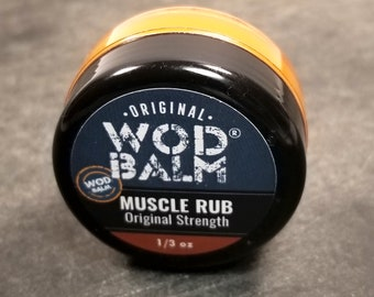 WOD Balm Muscle Rub - 1/3 oz Gym Bag size, All Natural Sore Muscle Relief