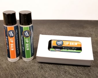 WOD Balm® Lip Balm Value Set - All natural herbal formula-  zero petroleum waxes which can dry lips and lead to dependency.