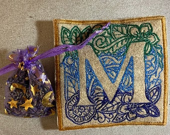 Embroidered Lavender Sachets
