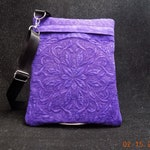 "Quilted / Embroidered 8"" x 10"" Shoulder-Strap Trapunto-Quilted Purse or eReader Case (embroidered bags & purses)"
