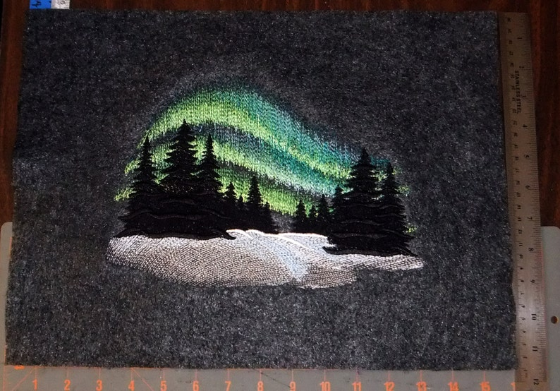 Northern Lights Tapestry embroidered wall art image 0