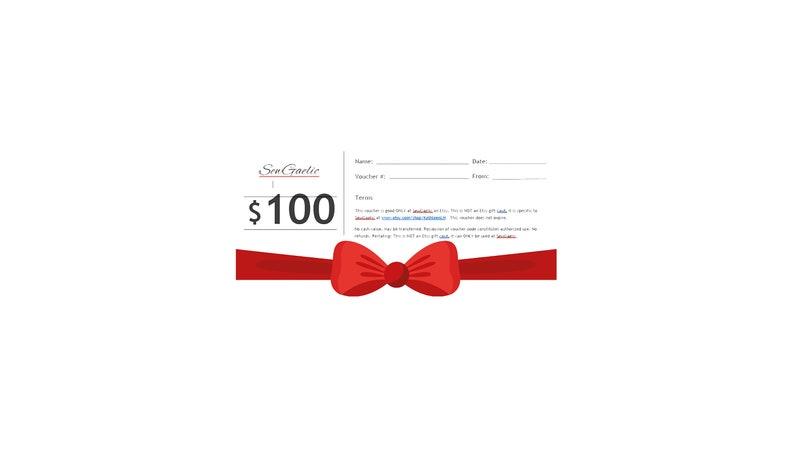 SewGaelic Gift Certificate  25/50/75/100 image 0