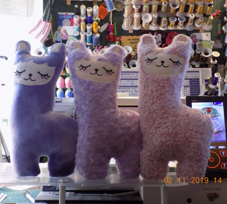 Llama Plush Stuffies 16-17 tall custom-made stuffed toy image 0