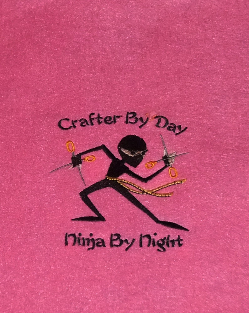 Craft Ninja Embroidered Wall Art 9x12 image 0
