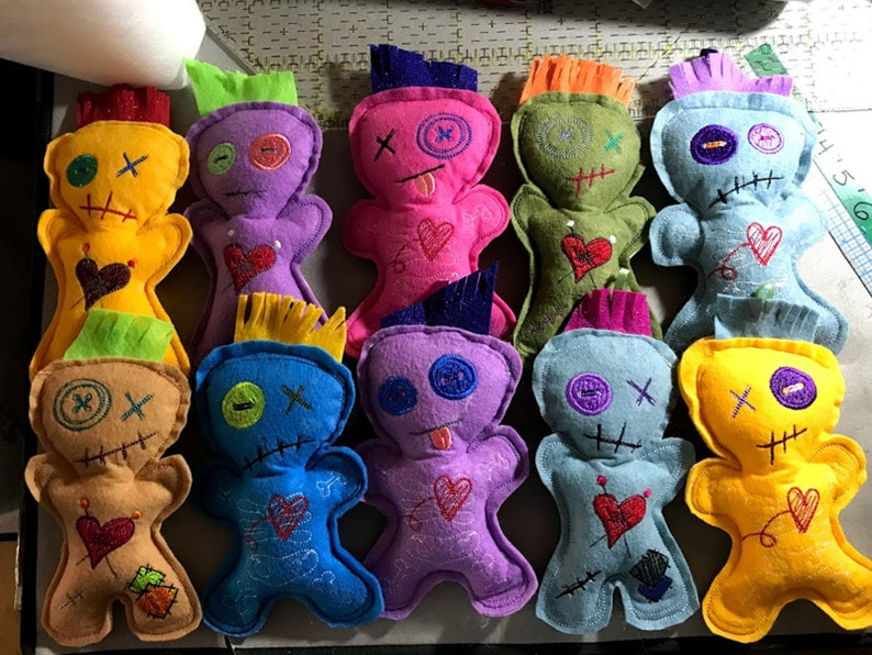 Voodoo Doll / Pincushion Embroidered Stuffies 7.5  image 0