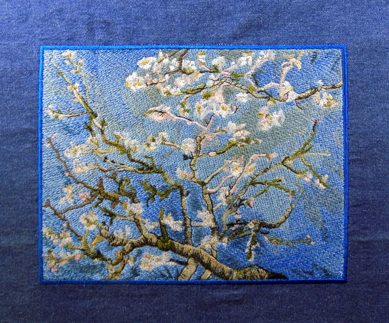 8.75 x 7 Almond Blossoms Embroidered Tapestry image 0