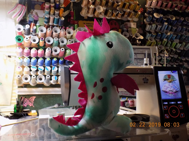Big Head T-Rex Plush Stuffed Toy 14-16 tall custom-made image 0
