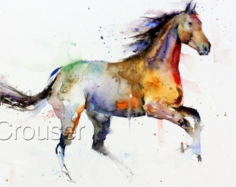 Horse greeting cards etsy horse watercolor greeting cards by dean crouser signed by the artist m4hsunfo