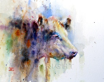 HEREFORD Cow Watercolor Print, Cow Painting, Cow Art, by Dean Crouser