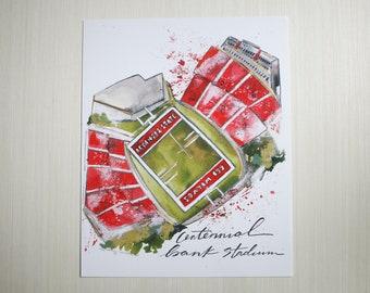 8x10 Centennial Bank Stadium Print
