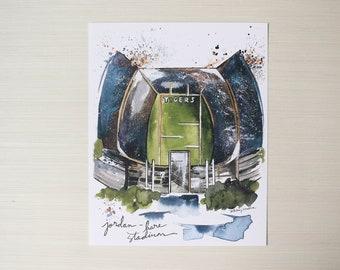 8x10 Jordan-Hare Stadium Print