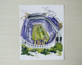 8x10 Tiger Stadium Print