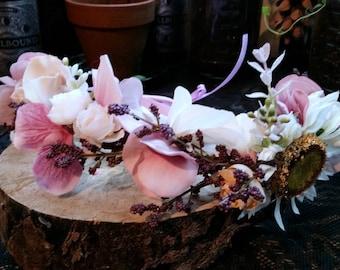Purple Woodlan Fantasy Flower Crown