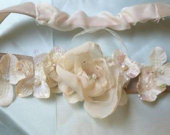 Handmade Ivory Flower Garter