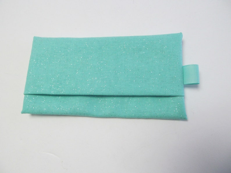 Tissue CaseSilver Glitter On Mint